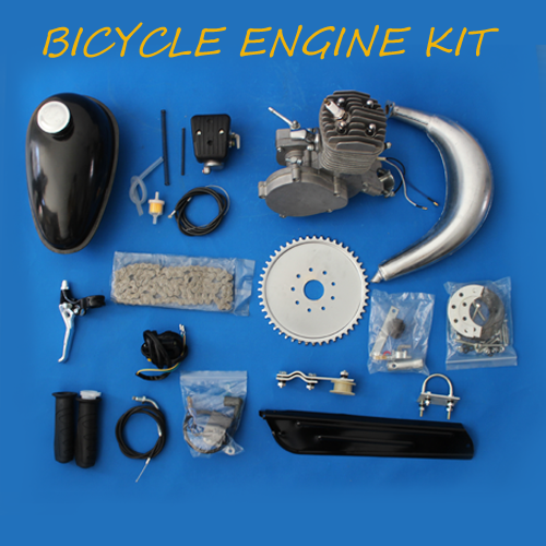 80cc 2-Cycle Bike Engine Motor Kit with Angle Fire Slant Head for High Performance Bicycle