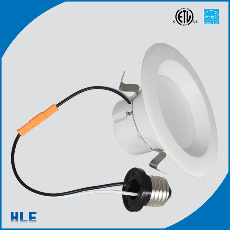 "12w dimmable UL cUL energy star listed US standard 4"" 5"" 6"" led downlights e26 screw base"