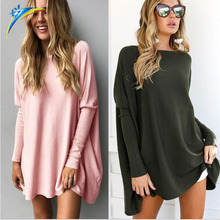 2017 casual autumn winter women blouse tops long sleeve loose ladies long tops blouse