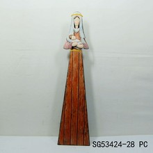 wholesale cheap imitation wood the virgin mary decoration