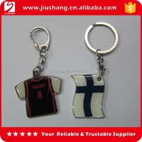 Personalized plain metal clothing shaped key ring