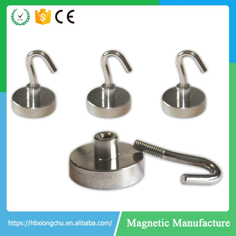 Strong Magnetic Hooks Indoor Powerful Heavy Duty Neodymium Magnet For Refrigerator
