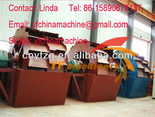 High effect mobile mini wheel type sand washing machine price from China