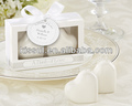 """A Dash of Love"" Ceramic Heart Salt & Pepper Shakers wedding souvenirs"