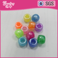 latest design custom rainbow pearl colored plastic hama pony beads
