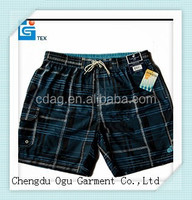 stylish quality 100% polyester wholesale cargo swimming shorts for men