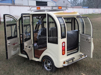Taxi Three Wheel Motorcycle Electric Passenger KeKe Tricycle With Driver Room