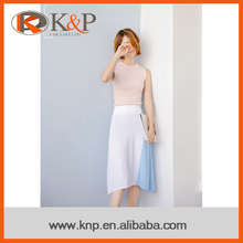 High Waisted A Line Skirt Design Newest Style Adults Fashion Knitted Skirt