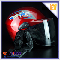 Superior half face red China motorcycle helmets