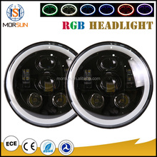 Phone control led flash light headlight RGB lights automobiles & motorcycles led light wireless led headlight