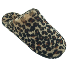 2019 new fashion indoor use wool fur winter warm slippers with leopard pattern