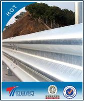 silvery white galvanized highway guardrail (factory price)