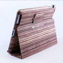 High quality fancy designed wood case for ipad4 custom laptop stand case tablet case