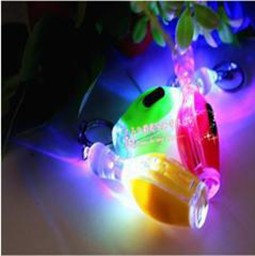 Colorful led light flashlight style bowling pin keychain