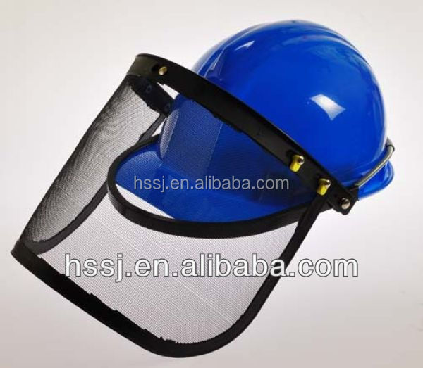 2016 HDPE industrial safety helmet economic safety helmet for construction with face shield PE industrial safety helmet