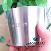Customized Logo 304 Stainless Steel Double Wall Coffee Cup