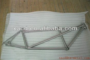 OEM titanium tandem bicycle frame with double seat tube using on tandem exercise bike