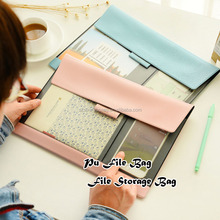 new design pu a4 document briefcase, file carrying case