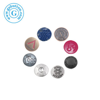Metal button snaps for jeans buttons