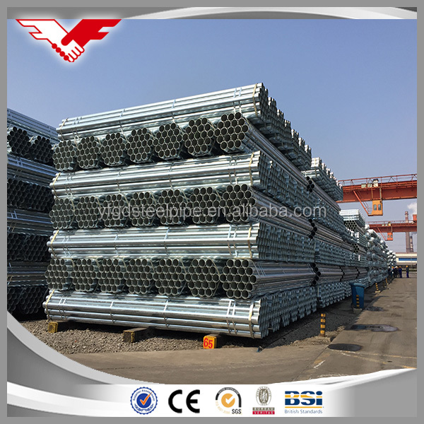 GI Hot dipped Galvanized iron mild steel pipe tube ASTM A500 standard pipe price list