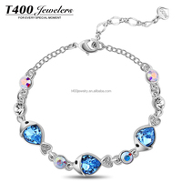 T400 2015 new Fashion joyas bracelet crystal from swarovski elements 3390