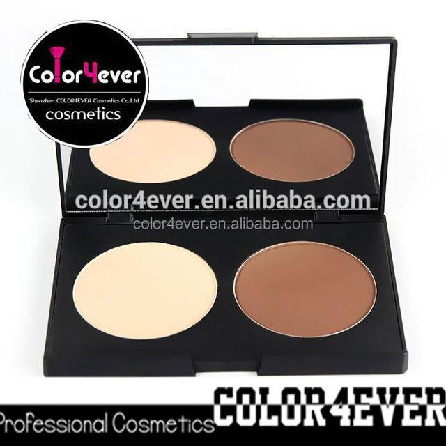 Wholesale Double Colors Contour Blusher Face Powder Palette Set wholesale korea powder foundation
