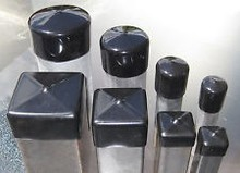 Flexible square steel tubing protection end cap