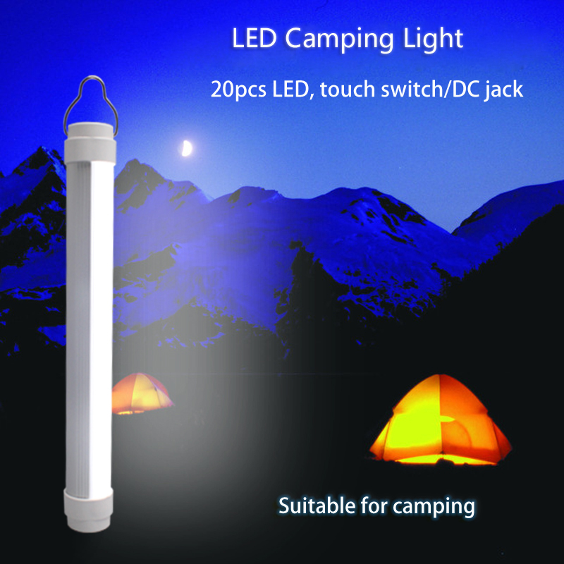 Portable Outdoor LED Emergency Tent camping light with hook
