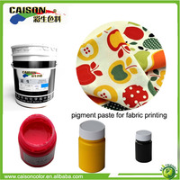 free samples Water based pigment colorant for cotton duck fabric printing