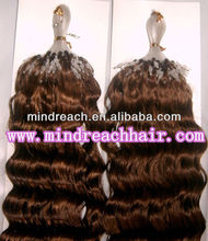 Premium 16'' 30# deep wave 100% virgin Malaysian micro loop hair extension accept paypal & escrow