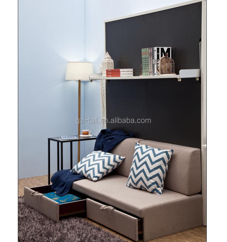 Murphy Bed Name Origin: Multifunction Hidden Wall Bed With Sofa Murphy Bed