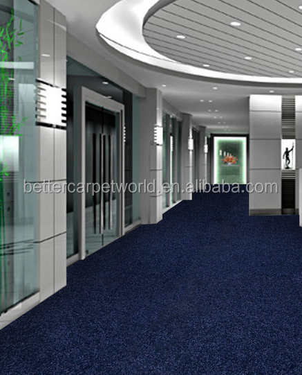 Custom Print Nylon Loop Pile Commercial Carpet Tiles For Offices Blue Nylon Carpet Patterns Printing