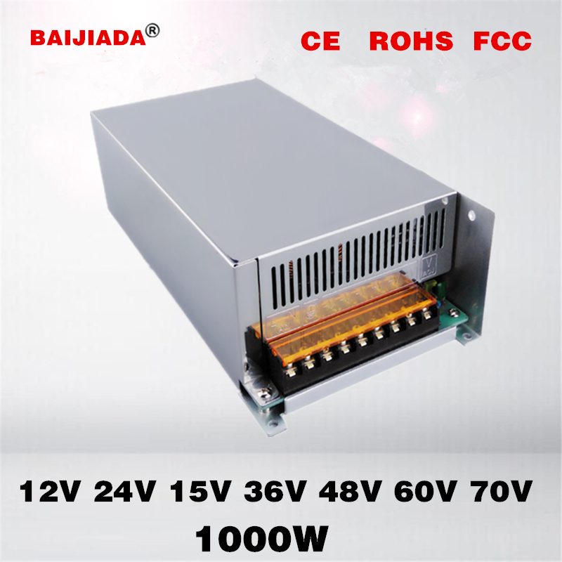 70V1000W 12V1000W 15V1000W 24V1000W 36V1000W 48V1000W 60V1000W Switching Power Supply 3D printer power Atomizer power supply