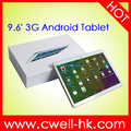 Dual SIM card MTK6582 quad core 1GB RAM 16GB ROM WIFI GPS 3G WCDMA Big size screen tablet pc PS-KT096H
