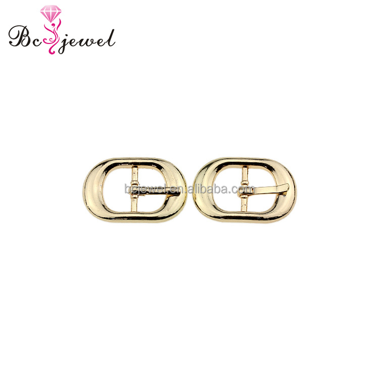 2017 Hot Sale Gold Shoe Buckles Women High Heel Metal Shoe Buckle Parts