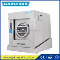 100kg hospital industrial laundry machines prices with high spin speed