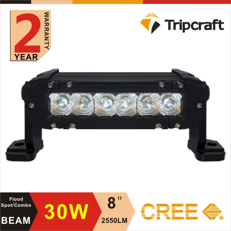 led working bar 8'' 30w led work lamp bars fog lights led fog light for Truck SUV 4WD Car