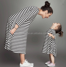 Autumn Girl Child Dress Mother And Daughter Matching Dress Casual Dress Women