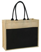 wholesale custom logo gift durable quality jute shopping tote bag