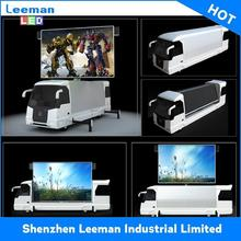 bottom price mobile truck display tri billboards lighting strips led dual color screen