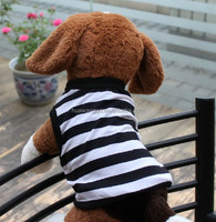 pet clothes for dog simple dog tank top stripe dog shirt