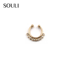Alibaba jewelry wholesale attractive free sample fake nose rings for decoration