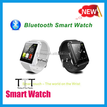 Manufacturer bluetooth 4.0 GPS cheap price U8 android smart watch phone with whatsapp skype
