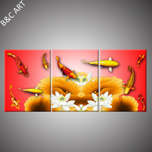 3D Printing Canvas Painting Set Fish Wall Backdrop for Wall Decoration