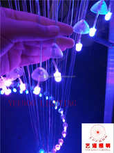 20years lifespan PMMA bulb luxury multicolor hanging lamp Indoor multicolor chandelier RGB chip change color 7colors chandelier