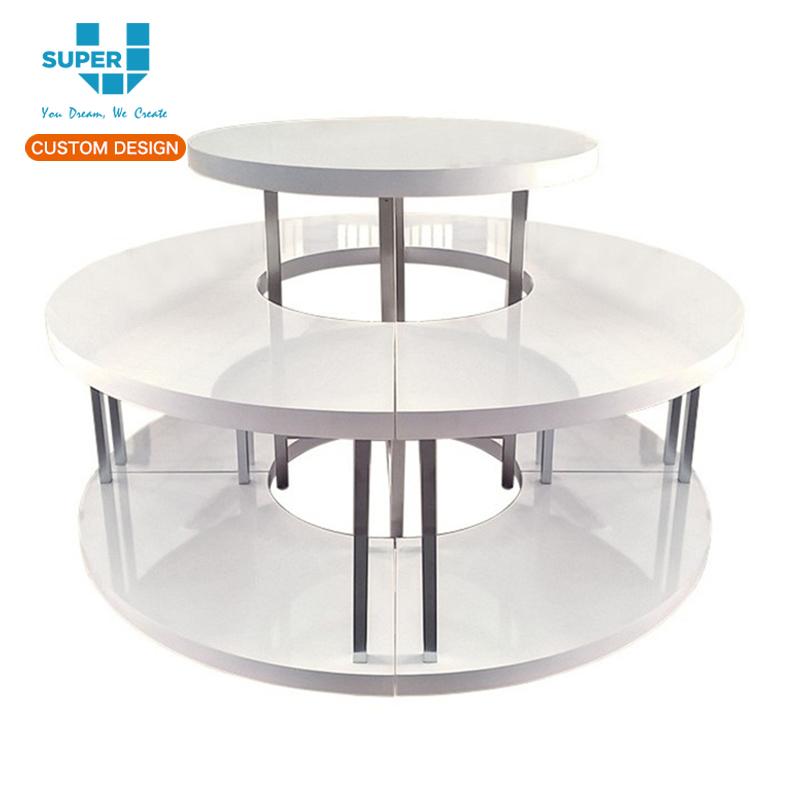 Bon White Modern Retail Round Tiered Display Showcase Table For Boutique  Handbag   Buy Display Showcase Table,Round Display Table,Round Retail Display  Table ...