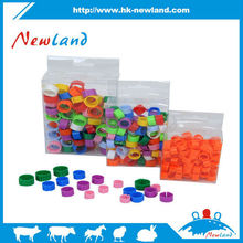 Newland new products colorful plastic birds leg ring foot ring clips, leg bands