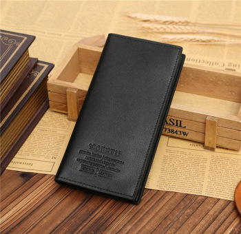 wholesale korean cheap pu leather mens long wallet