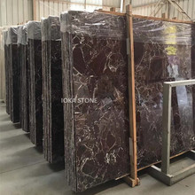 Natural marble rosso lepanto purple red marble enginnered slab on sale