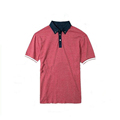Men's blank comfort colors polo tshirt with short sleeve